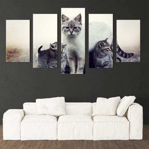Cat Family - Beautiful Home Décor | Unique Canvas