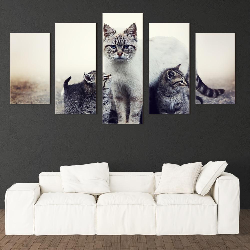 Cat Family - Beautiful Home Décor | Unique Canvas