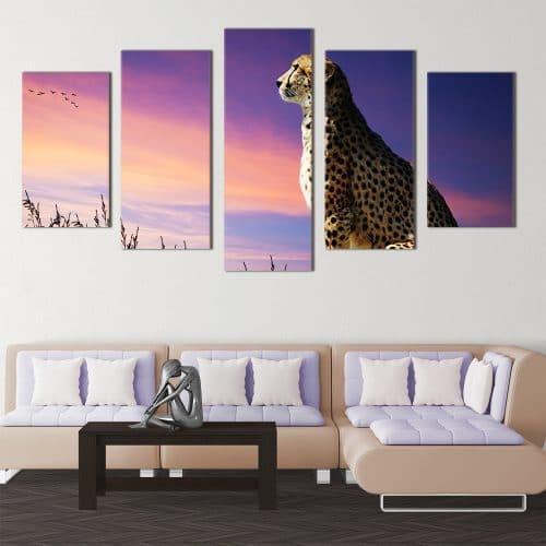Gazing Cheetah - Beautiful Home Décor | Unique Canvas