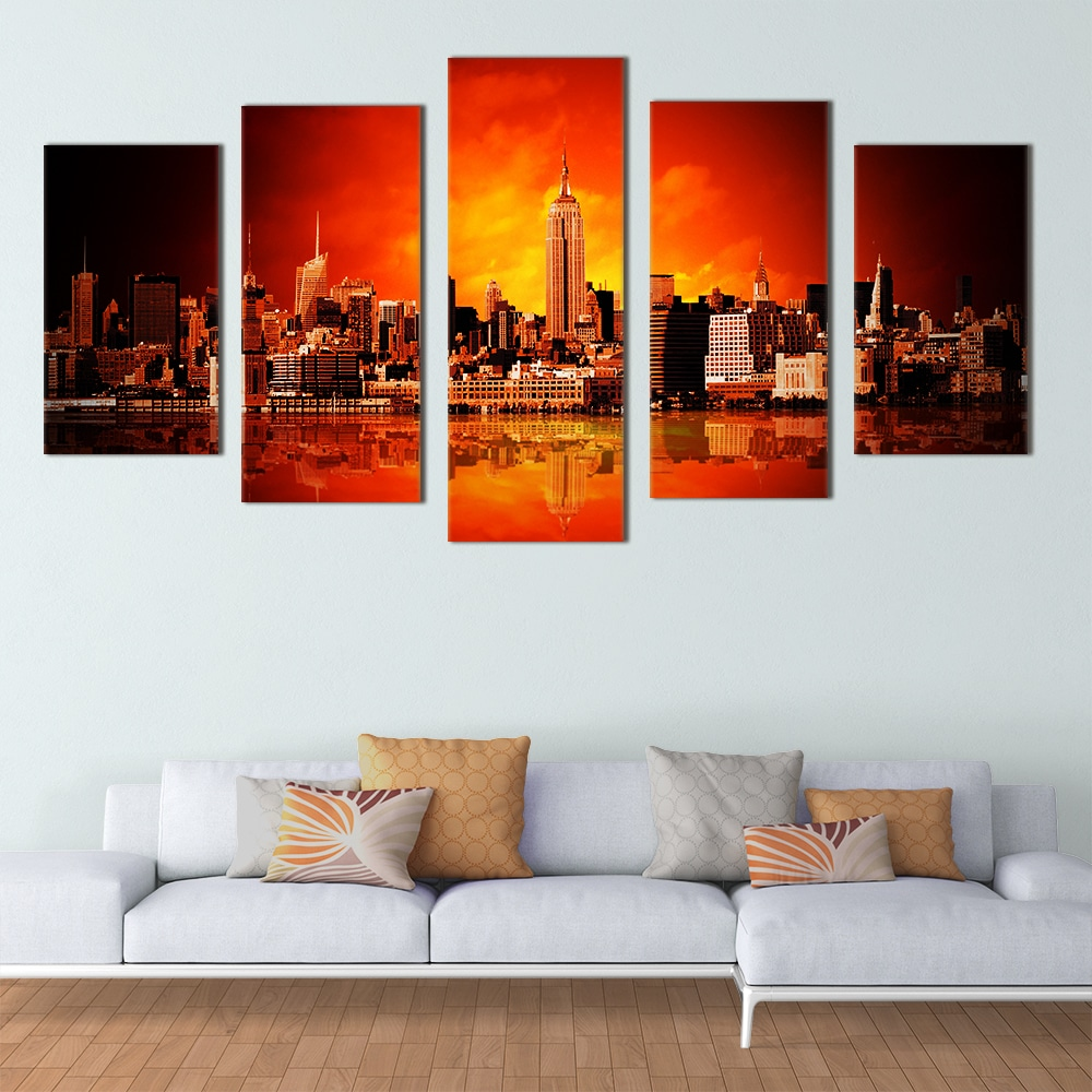 Glowing New York - Beautiful Home Décor | Unique Canvas