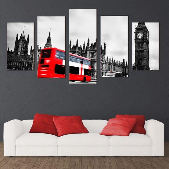 London Red Bus - Beautiful Home Décor | Unique Canvas