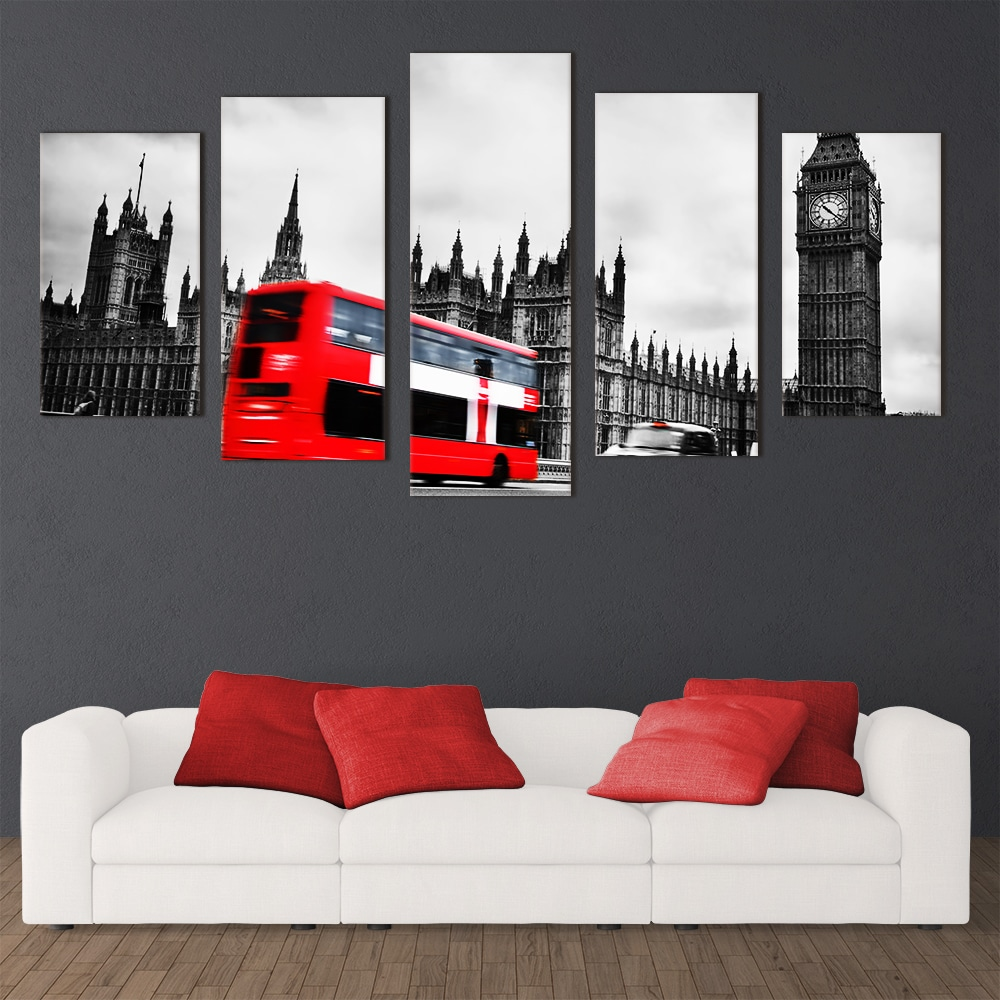 London Red Bus - Beautiful Home Décor | Unique Canvas