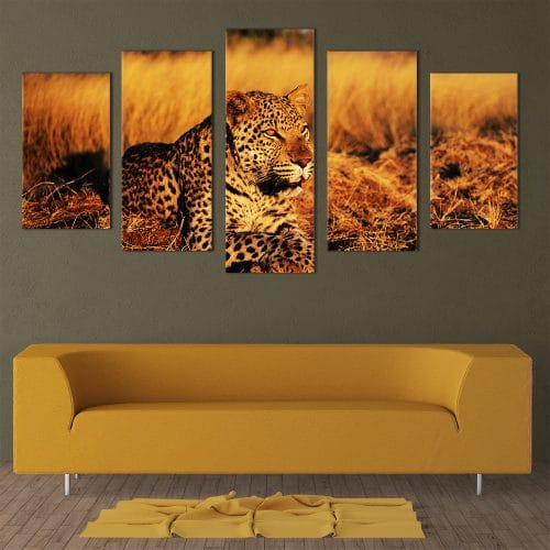 Lying Leopard - Beautiful Home Décor | Unique Canvas