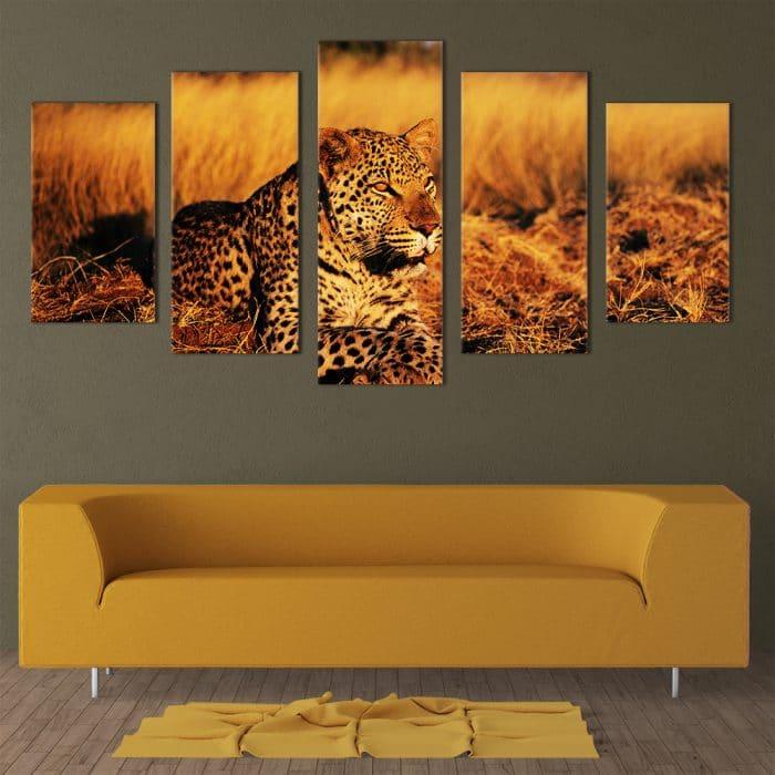 Lying Leopard - Beautiful Home Décor | Unique Canvas