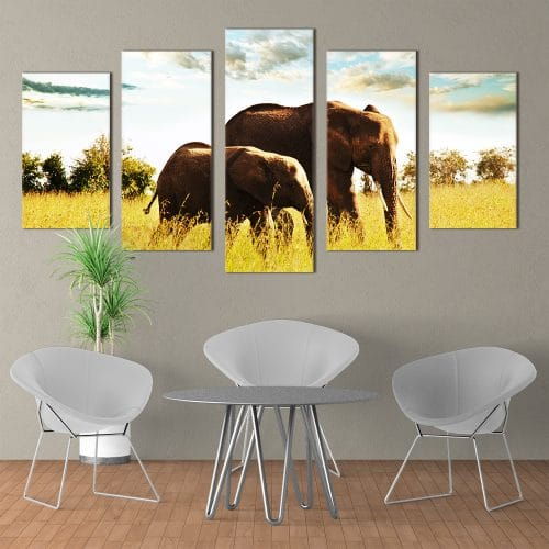 Majestic Elephants- Beautiful Home Décor | Unique Canvas