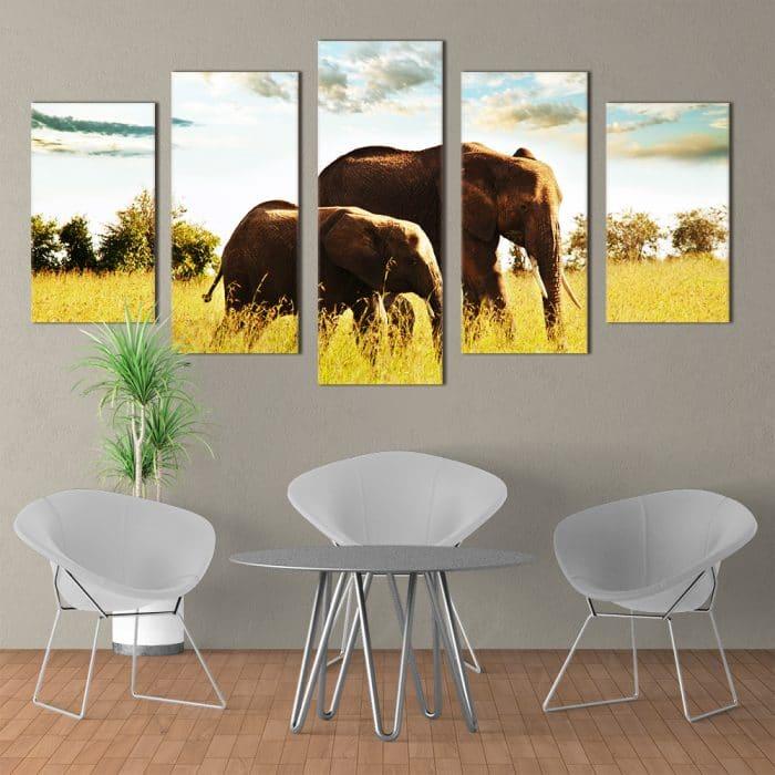 Majestic Elephants- Beautiful Home Décor | Unique Canvas