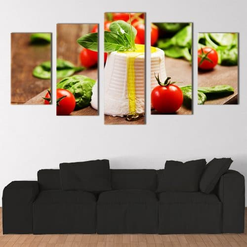 Mozzarella, Tomatoes & Basil - Beautiful Home Décor | Unique Canvas