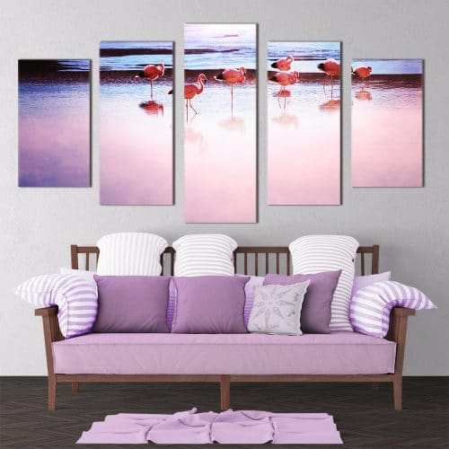 Pink Flamingos- Beautiful Home Décor | Unique Canvas