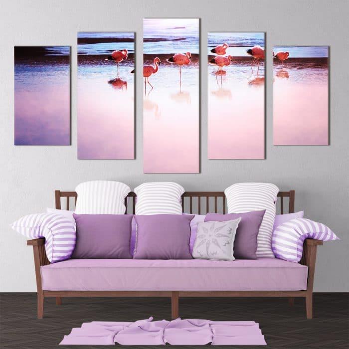 Pink Flamingos- Beautiful Home Décor | Unique Canvas