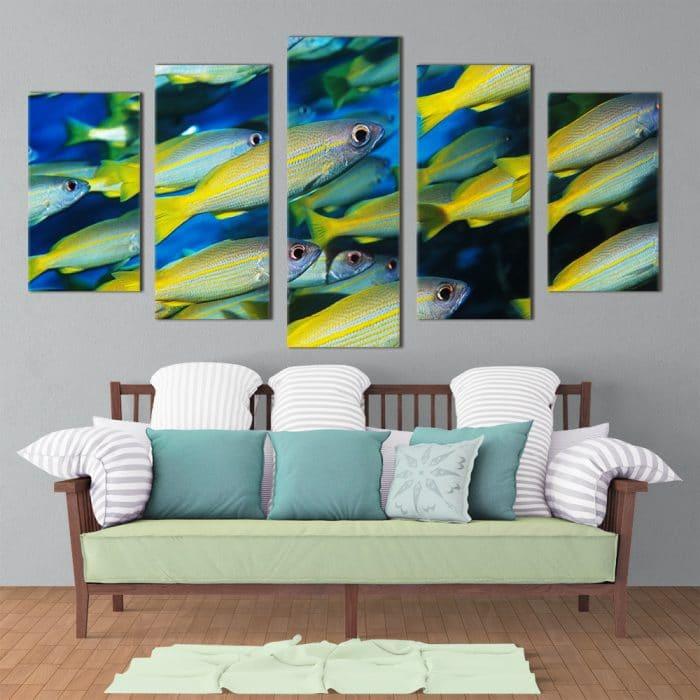 Shoal of Fish - Beautiful Home Décor | Unique Canvas