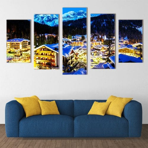 Beautiful Ski Resort - Beautiful Home Décor | Unique Canvas
