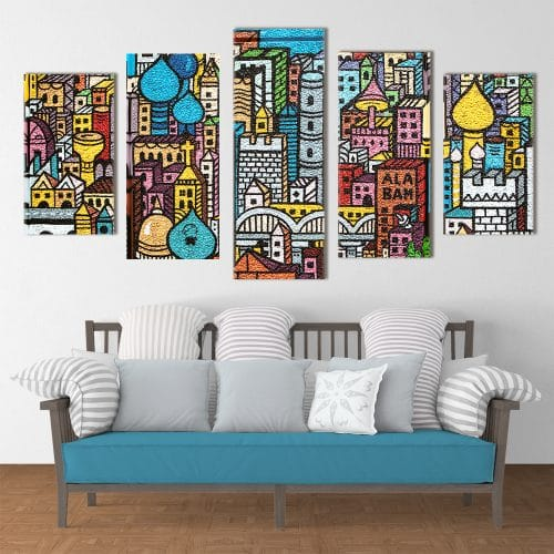 Colourful City - Beautiful Home Décor | Unique Canvas