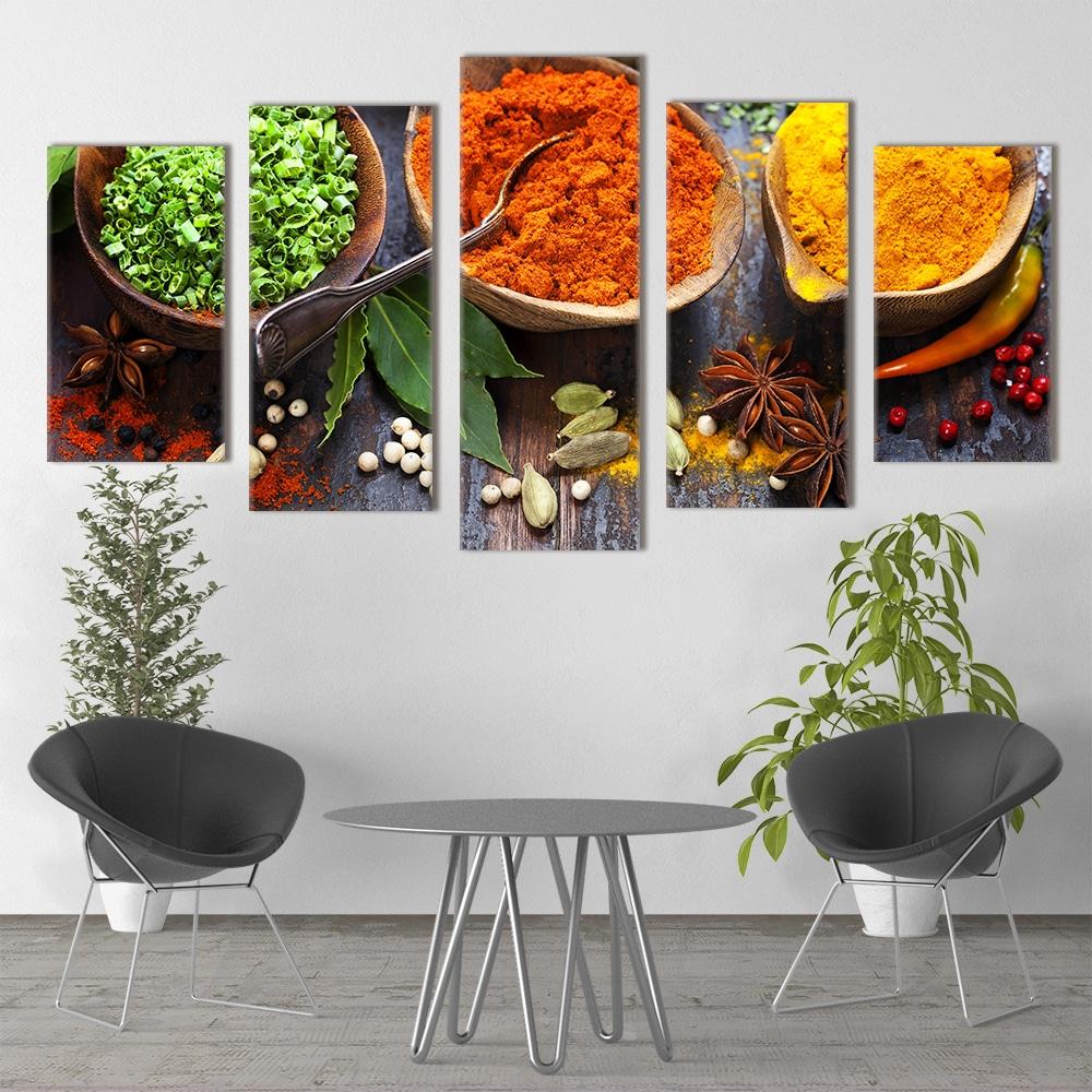 Colourful Fresh Spices- Beautiful Home Décor | Unique Canvas