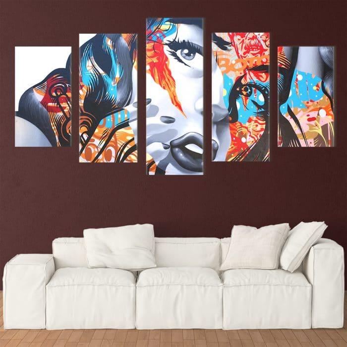 Colourful Lady - Beautiful Home Décor | Unique Canvas