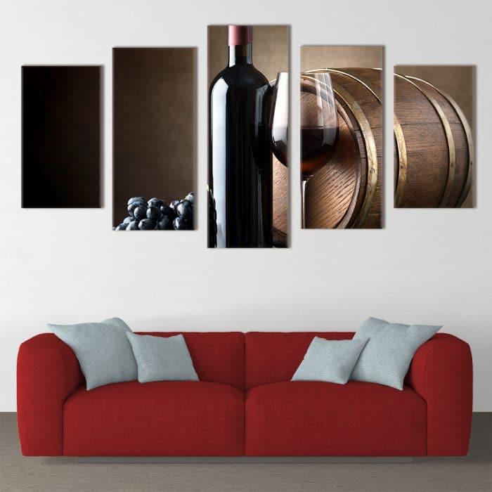 Deep Red Wine- Beautiful Home Décor | Unique Canvas