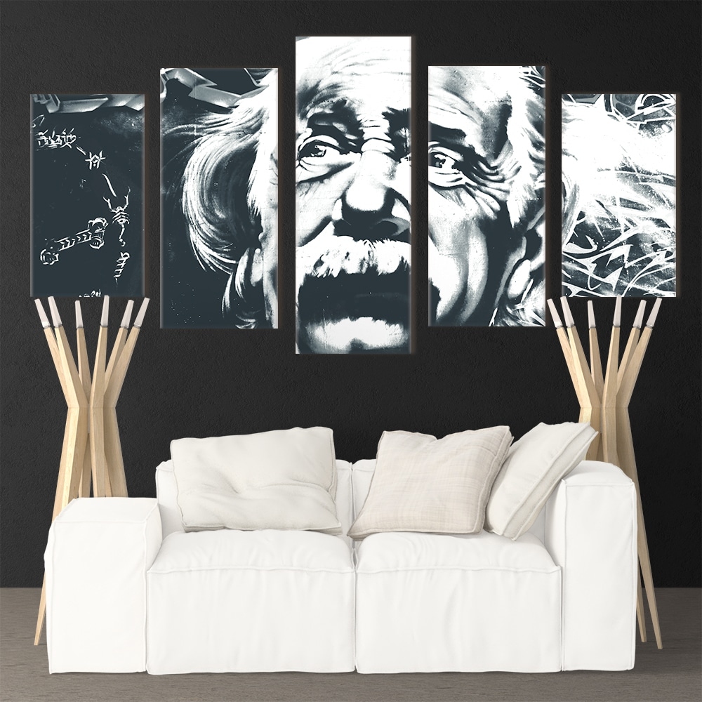 Einstein Black & White - Beautiful Home Décor | Unique Canvas