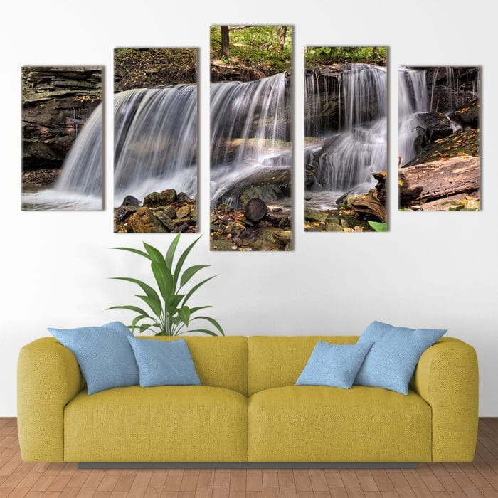Forest Waterfall- Beautiful Home Décor | Unique Canvas