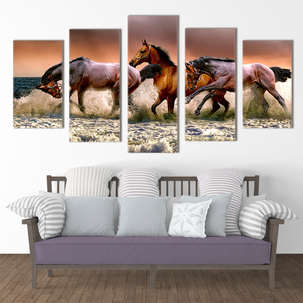 Horses by the Sea - Beautiful Home Décor | Unique Canvas