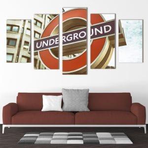 London Underground unique canvas