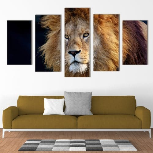 Male Lion - Beautiful Home Décor | Unique Canvas