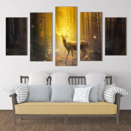 Mystical Deer - Beautiful Home Décor | Unique Canvas