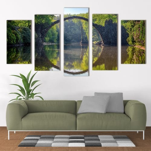 Rakotzbrucke Bridge - Beautiful Home Décor | Unique Canvas