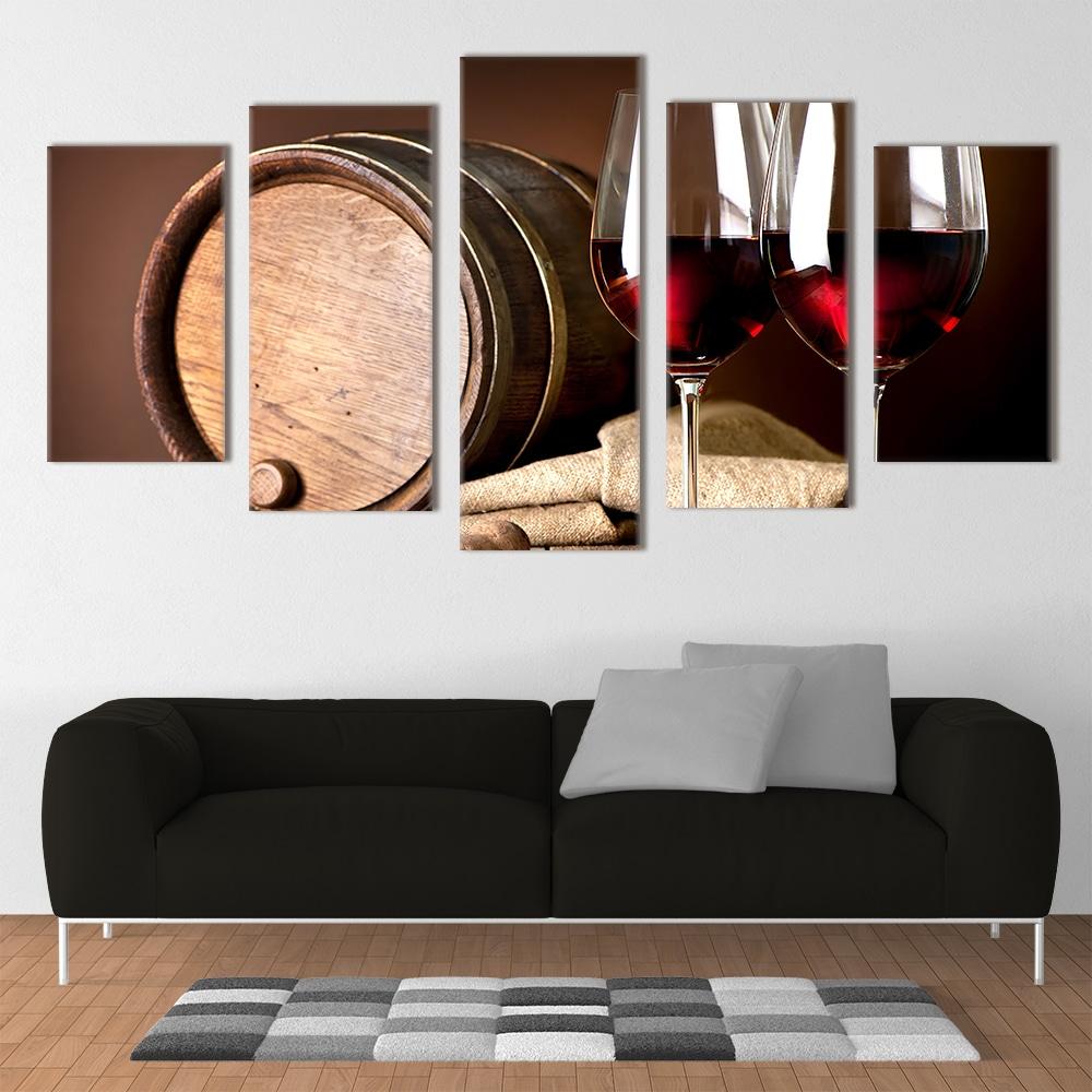 Red Wine Glasses- Beautiful Home Décor | Unique Canvas