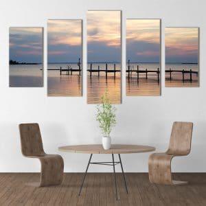 Sea Pier at Sunset - Beautiful Home Décor | Unique Canvas