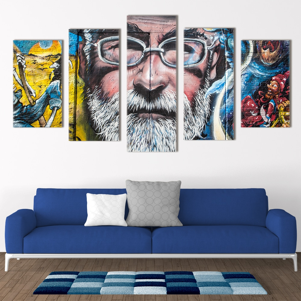 Terry Pratchett Mural - Beautiful Home Décor | Unique Canvas