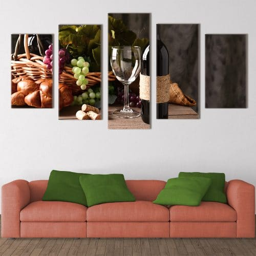 Vintage Wine- Beautiful Home Décor | Unique Canvas