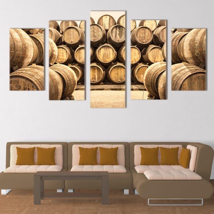 Winery Barrels unique canvas