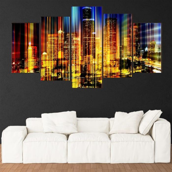 Colourful City - Beautiful Home Décor | Unique Canvas
