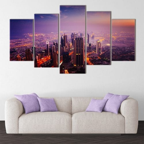 Dubai at Dusk - Beautiful Home Décor | Unique Canvas