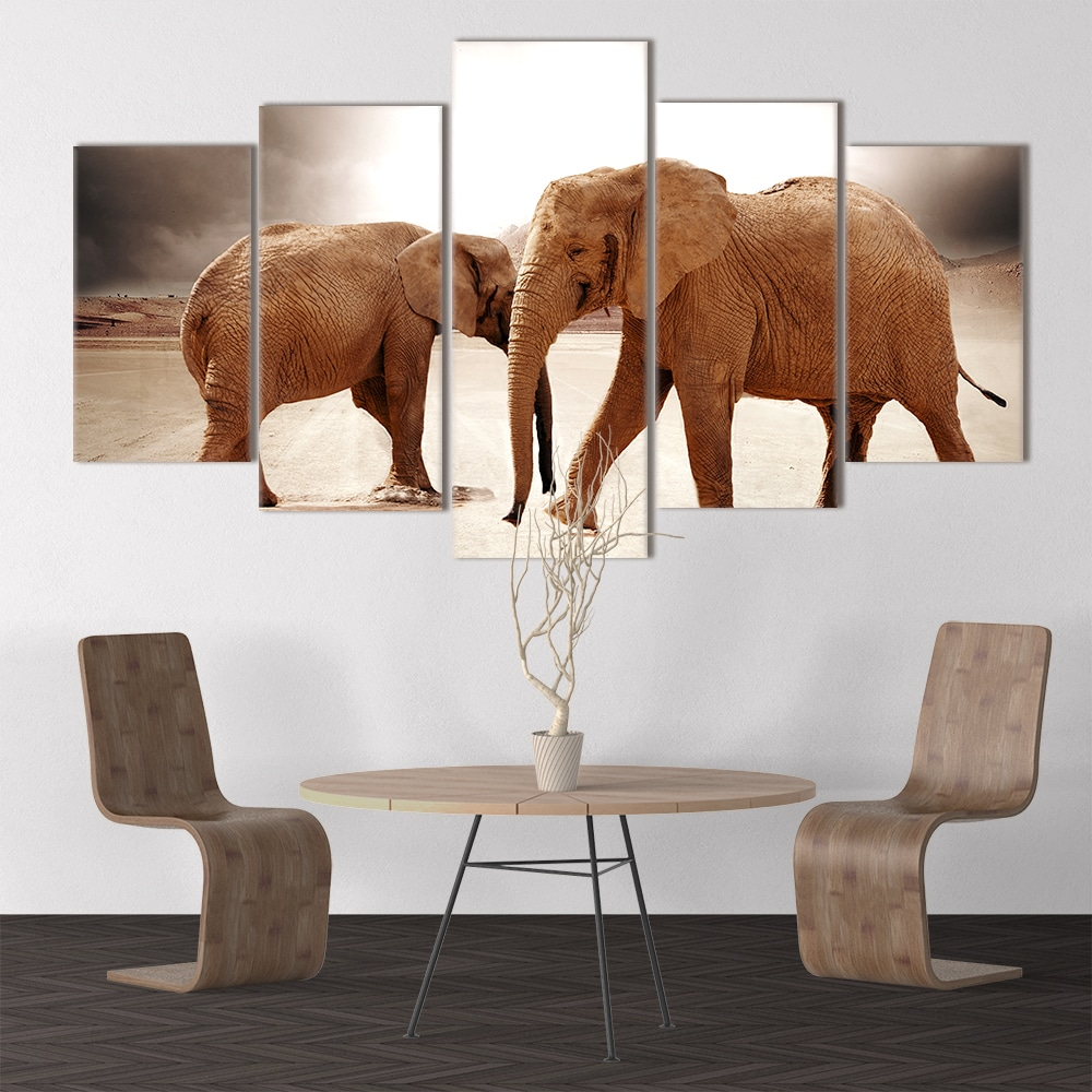 Elephant Couple - Beautiful Home Décor | Unique Canvas