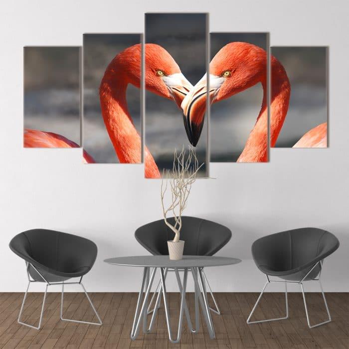 Flamingo Heart - Beautiful Home Décor | Unique Canvas