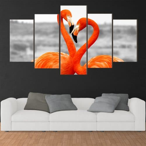 Flamingo in Love - Beautiful Home Décor | Unique Canvas