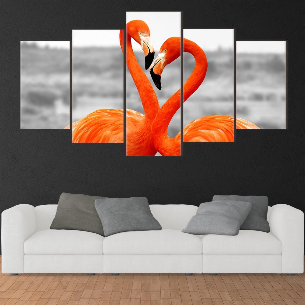 Flamingo in Love - Beautiful Home Décor | Unique Canvas