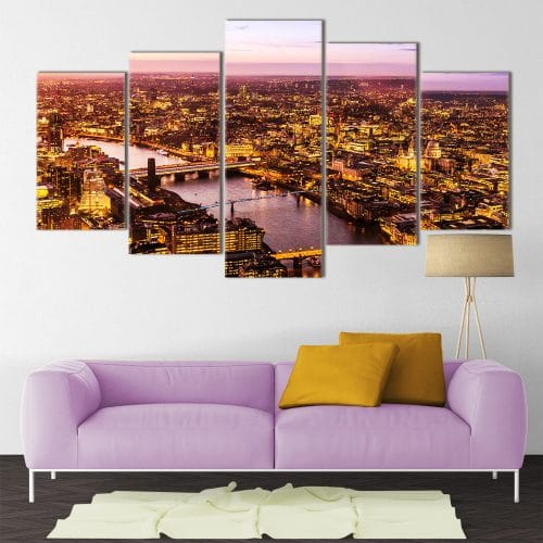 Glowing London - Beautiful Home Décor | Unique Canvas