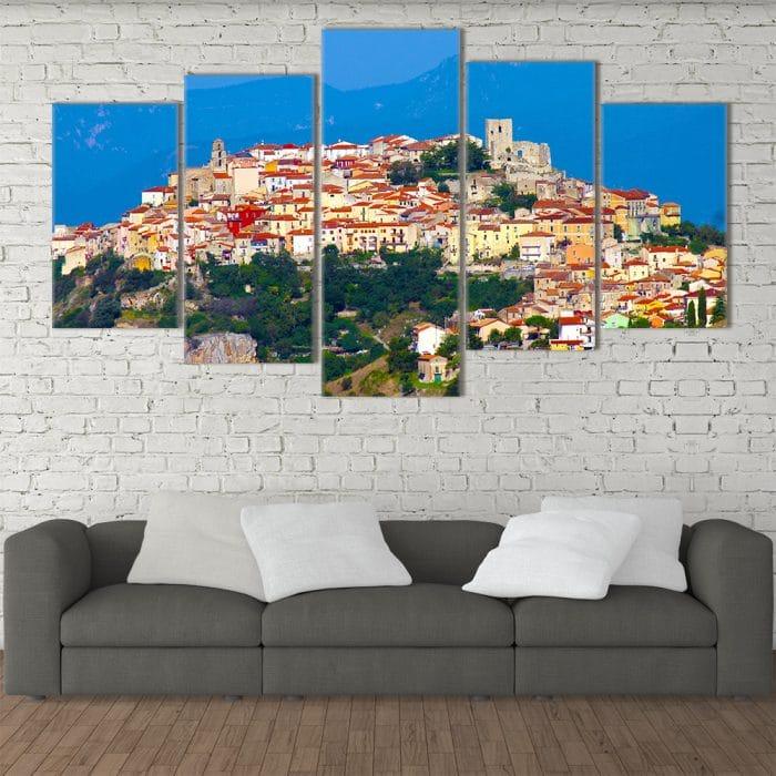 Mountain Town- Beautiful Home Décor | Unique Canvas