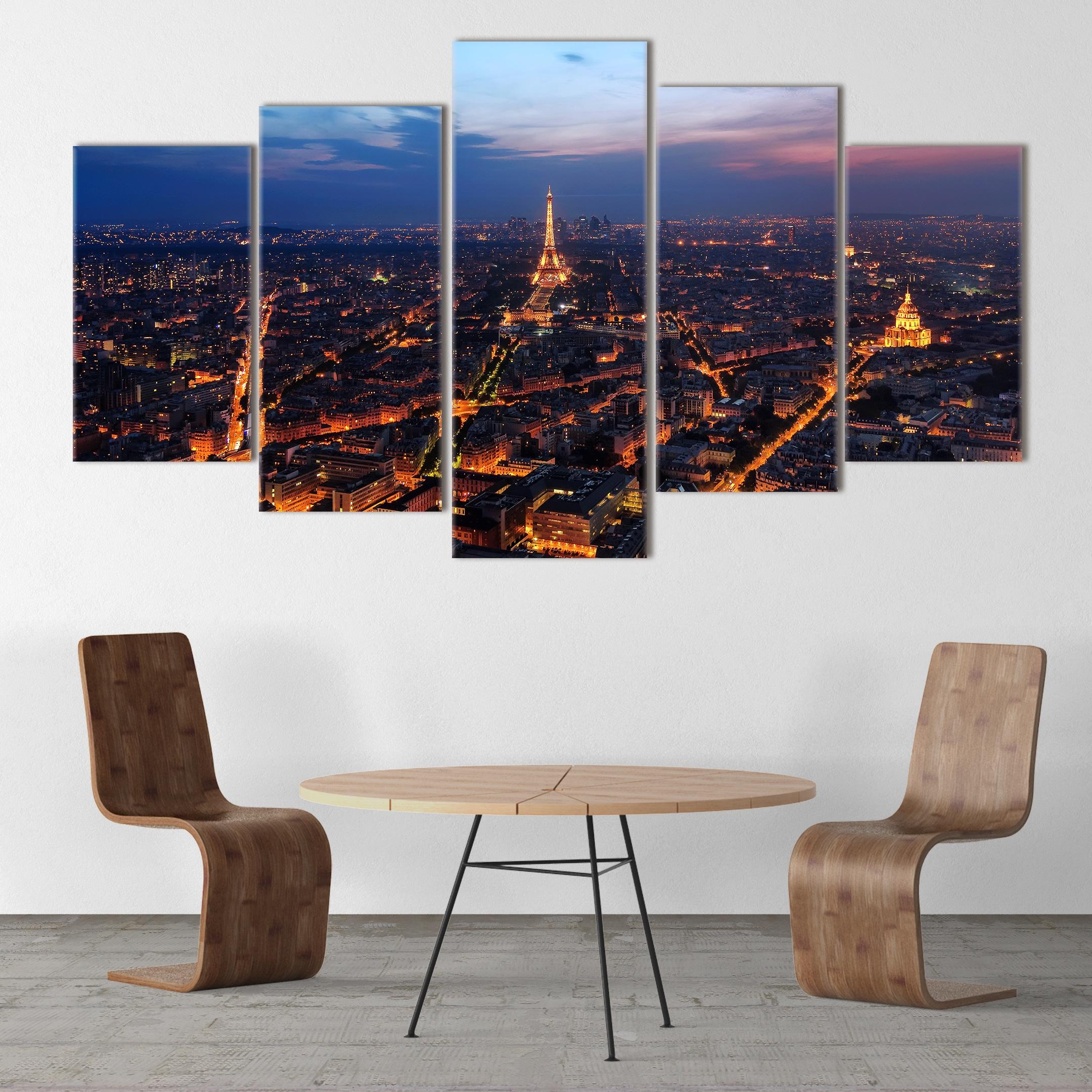 Paris in The Lights - Beautiful Home Décor | Unique Canvas