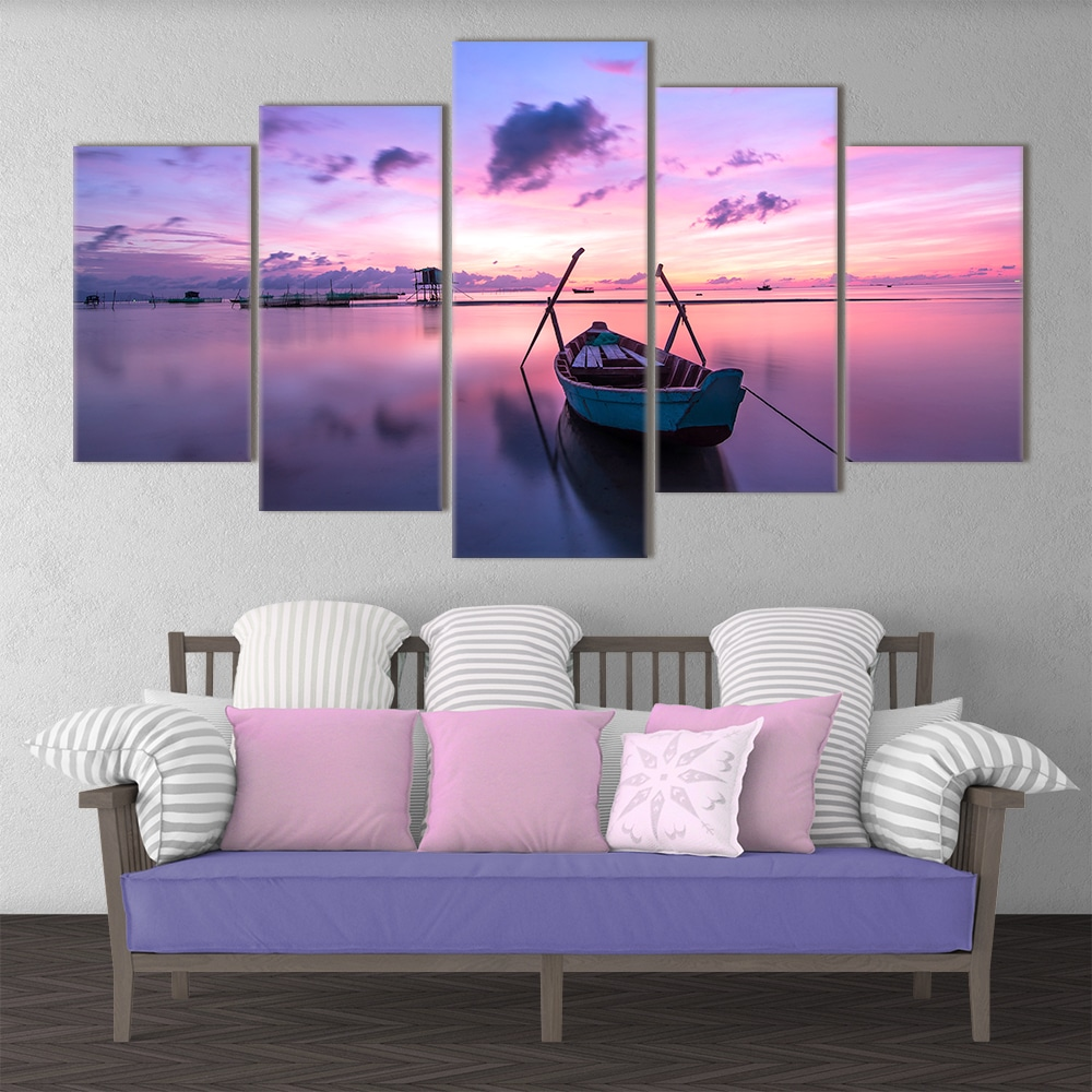 Immerse yourself in our picturesque handcrafted Purple Sunrise canvas. Beautiful home decor wall art. Highest Quality. Ready to Mount. Free Shipping.
