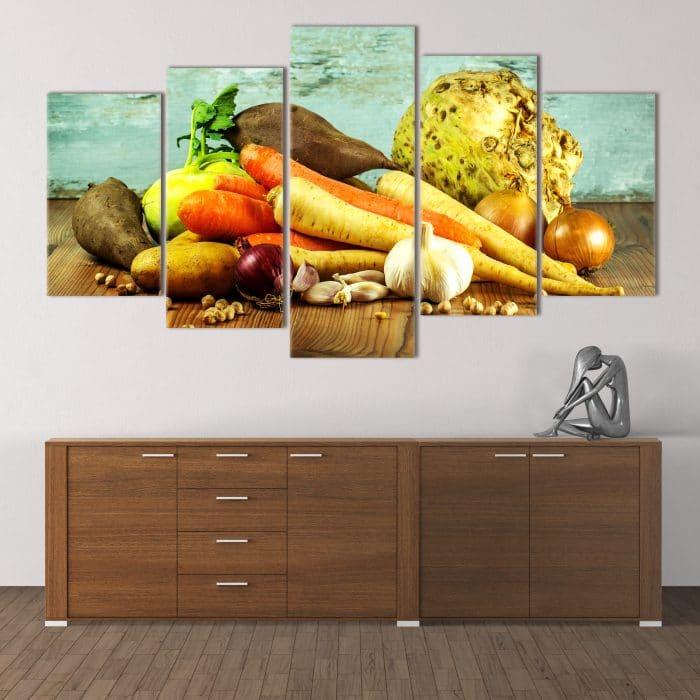 Raw Vegetables unique canvas