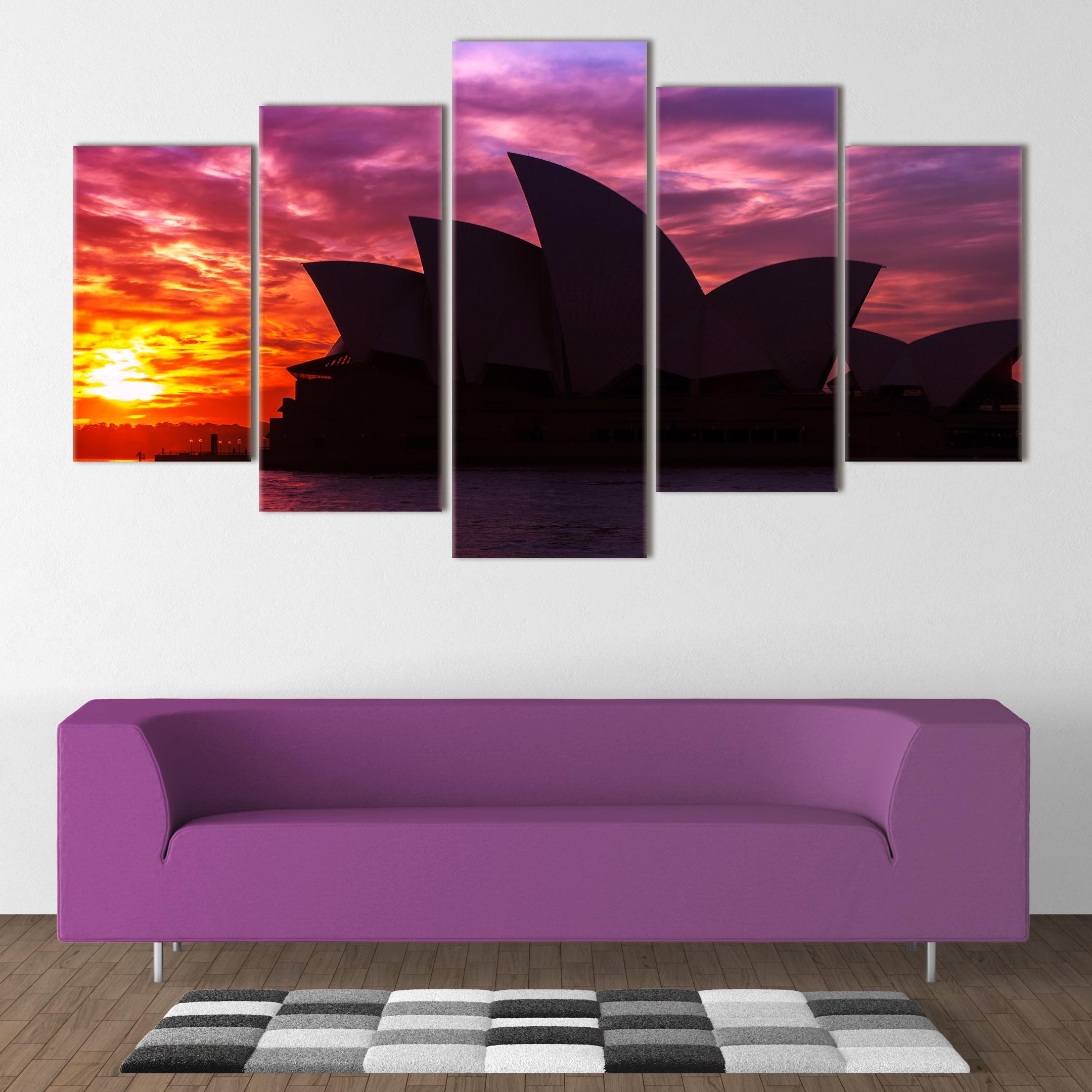 Sydney Opera House Silhouette - Beautiful Home Décor | Unique Canvas