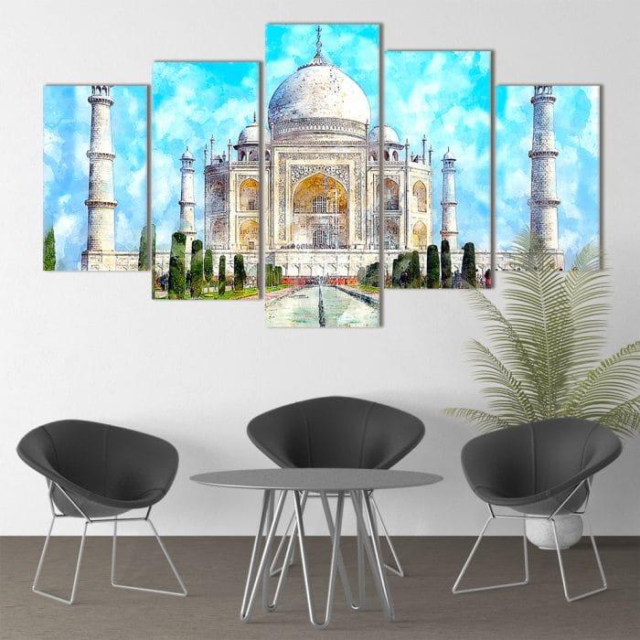 Taj Mahal Painting- Beautiful Home Décor | Unique Canvas