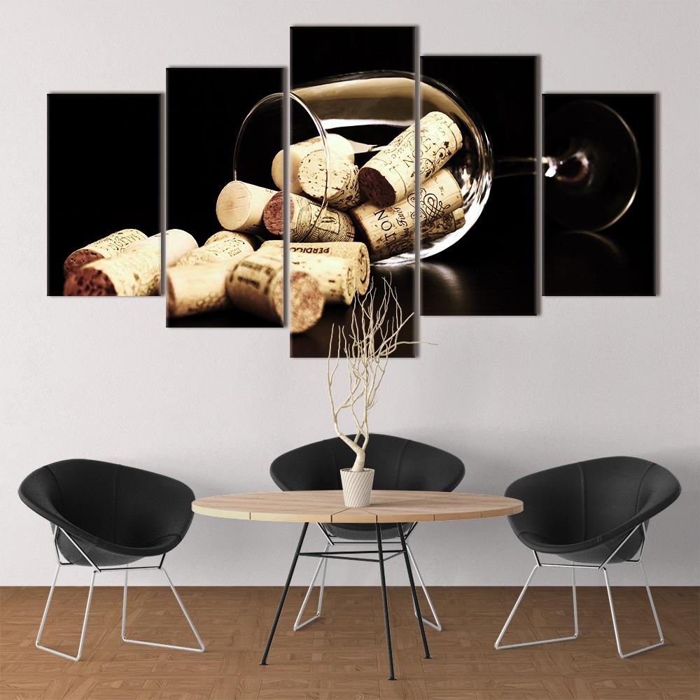 Wine Corks unique canvas