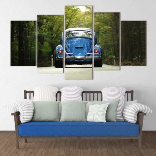 Buy Blue Bug Cars, Vintage Unique Canvas