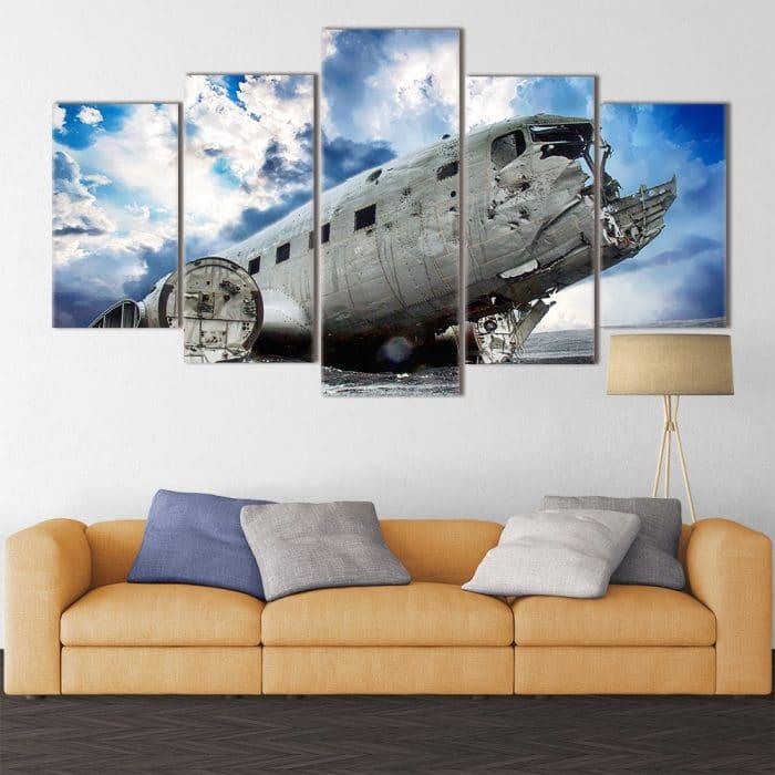 Buy Plane Wreck Unique Canvas