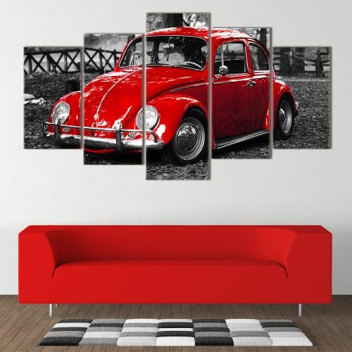 Red Beetle unique canvas