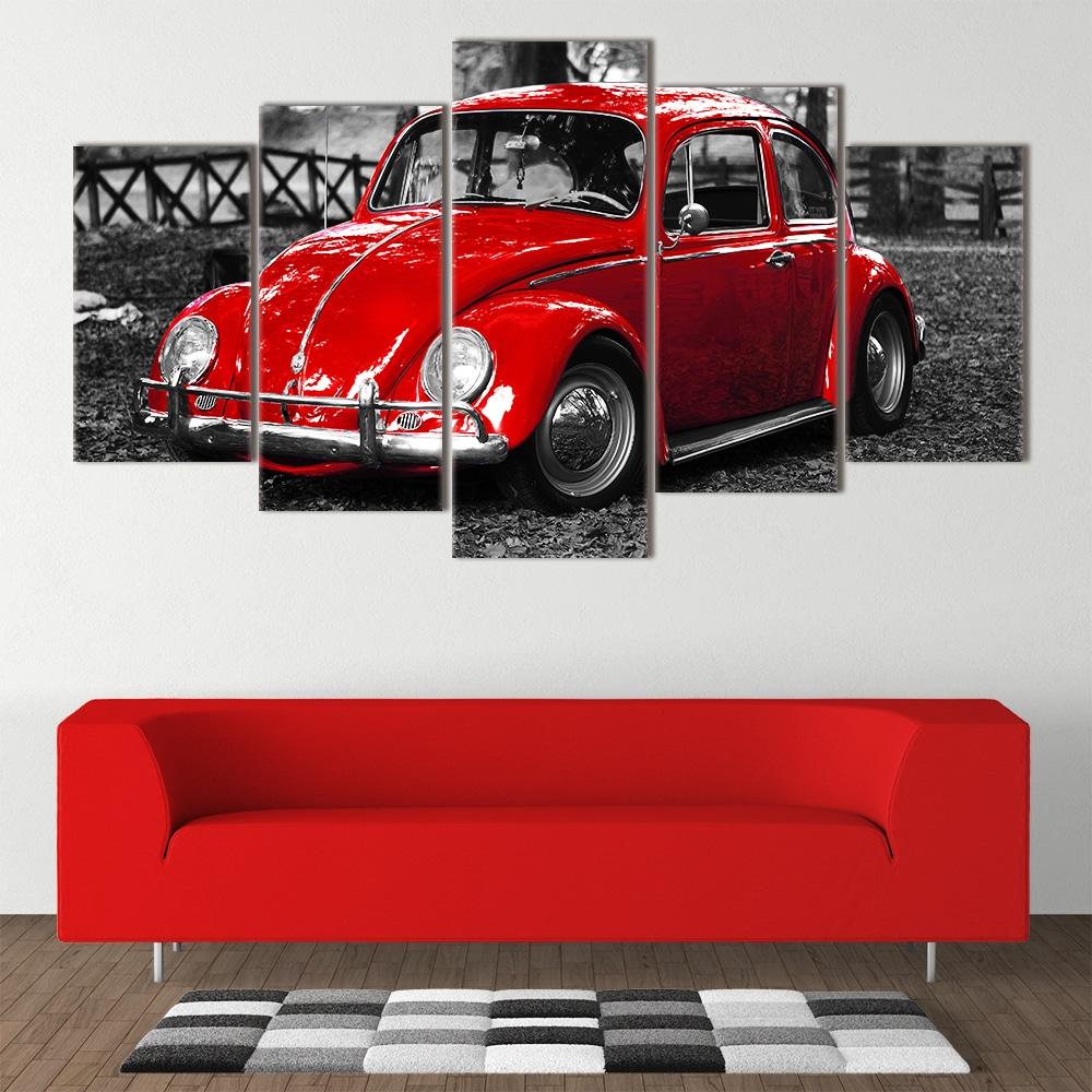Red Beetle unique canvas