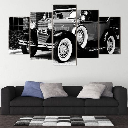 White Wall Car unique canvas